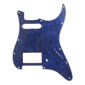 Elektrische-Gitarre-HS-Blue-Pearl-Pop-Scratch-Platte-fuer-Fender-Strat-3-Ply