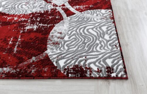 Area rug Nwprt #67 Distressed red and gray soft pile sizes 2x3 4x5 5x7 8x11