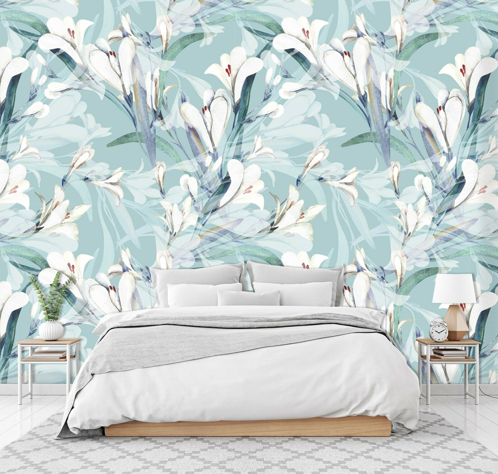 3D Weiß Flower Petal 801 Wallpaper Mural Paper Wall Print Murals UK Summer