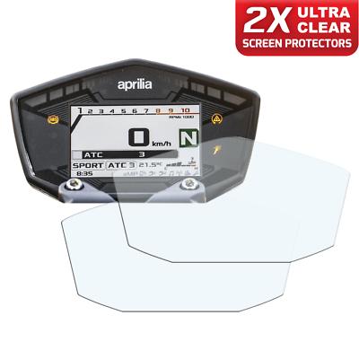 Ultra-Clear 2 x APRILIA SHIVER 900 2017 Dashboard Screen Protector