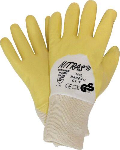 12 Paar Handschuhe Nitril teilbeschichtet Baumwolltrikot Strickbund 1020-000