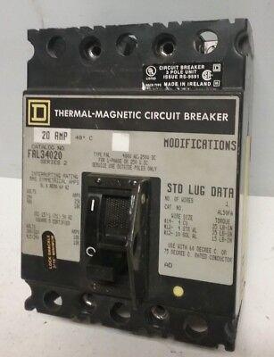 MAGNETIC CIRCUIT BREAKER SQUARE D FAL34020 THERMAL