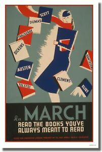 March-Read-the-books-Vintage-Reading-Print-POSTER