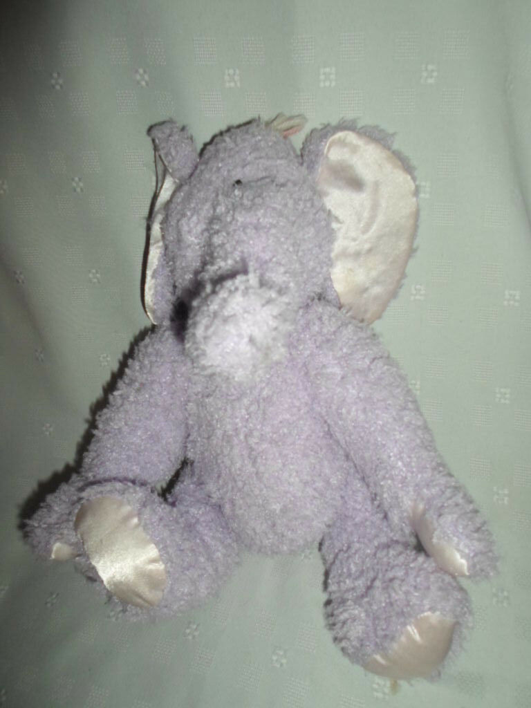 Baby Boyds Wind Up Purple Elephant 14    Plush Soft Toy Stuffed Animal 9a697a