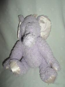 "Baby Boyds Wind Up Purple Elephant 14"" Plush Soft Toy Stuffed Animal"
