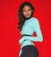 nero Trim Top Longsleeve Createlogy m Nwt Size Yoga Colore turchese q8z5B