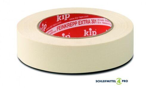 3 Rollen Kreppband/_ kip/_ Feinkrepp/_ Extra 301-24 50 m x 24 mm 0,04€ // lfdm