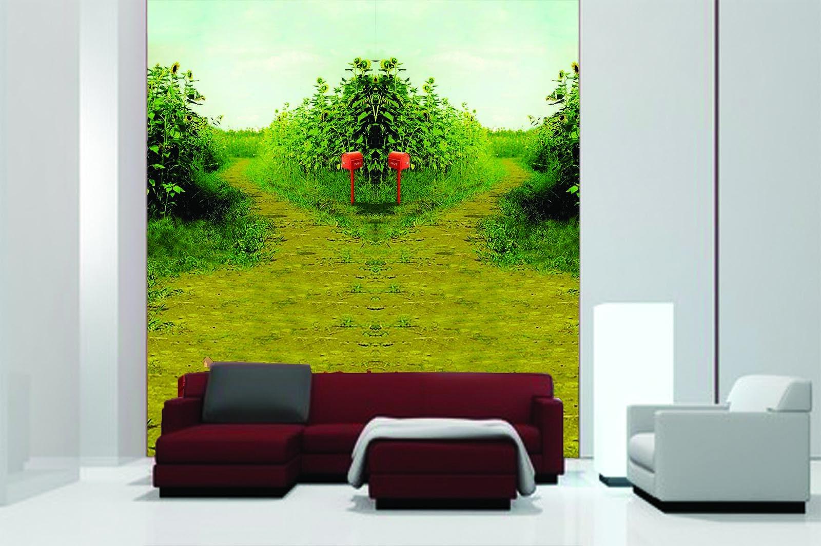 3D Sonnenblumen Farm 84 Tapete Wandgemälde Tapete Tapeten Bild Familie DE Summer