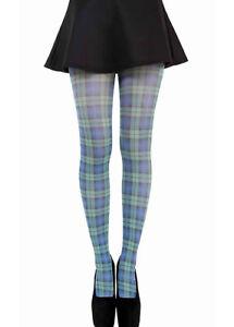 Tartan-Tights-Scottish-Check-Pattern-Tights-Soft-Opaque-Denier-Pantyhose