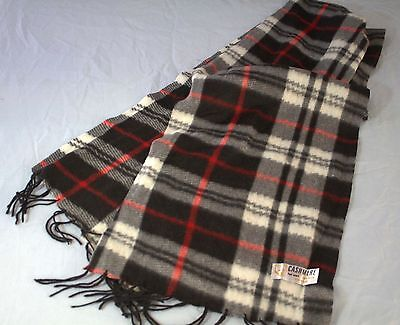 Cashmere Feel Sciarpa Acrilico Frangia Lungo Nero Rosso Bianco Plaid