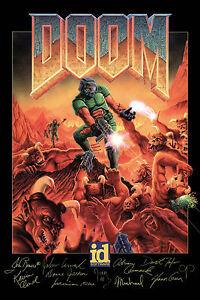 Doom Classic Game Signed Poster  5 Sizes  PC Box BFG 64 Atari Xbox PS4 3DO Sega