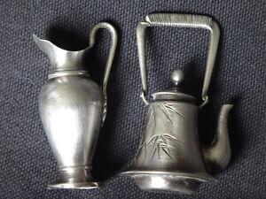 2-miniatures-argent-theiere-aiguiere-old-silver-pitcher-tea
