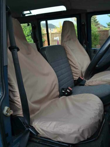 83-07 Beige Front Driver Passenger Seat Covers Pair for Land Rover Defender