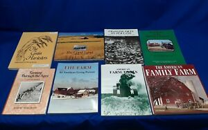 Lot-Of-8-Farm-Books-Farm-Power-in-America-Tools-Land-Barn-Pictures-Tractors