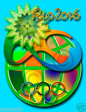 Summer Olympic Event Poster//SWIMMING// PICTOGRAM//2016//Rio Olympics//16x20 inch