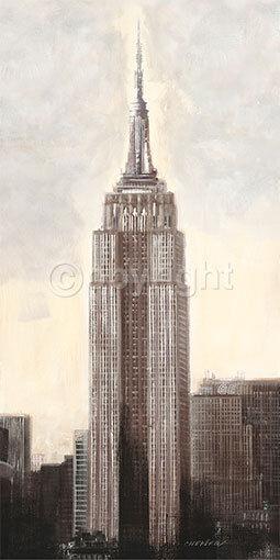 Talantbek Chekirov   Empire State Building, N.Y.C tableau prêt 50x100 New York