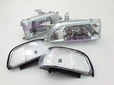 Headlights Headlamps for Toyota Corolla AE92 FX GT E90 EE90 sedan 89-92 WH lu#G
