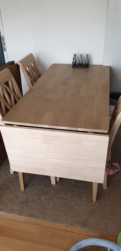 Spisebord m/stole, Eg, b: 74 l: 150