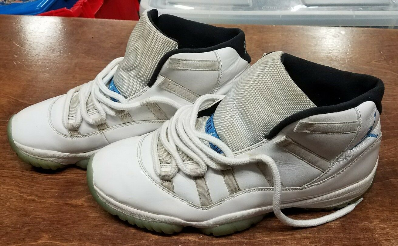 Nike Air Jordan 11 retro leyenda 2018 Azul Columbia blanco 2018 leyenda 378037-117 comoda marca de descuento 8749a0