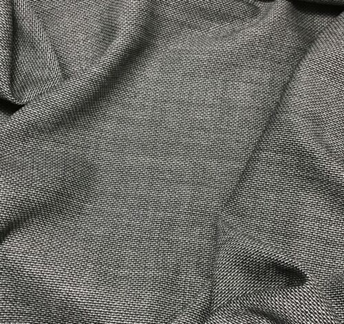WOOL Suiting Fabric 1//4 yard remnant Charcoal Gray