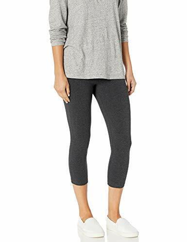 Choose SZ//color HUE Women/'s Wide Waistband Blackout Cotton Capri L