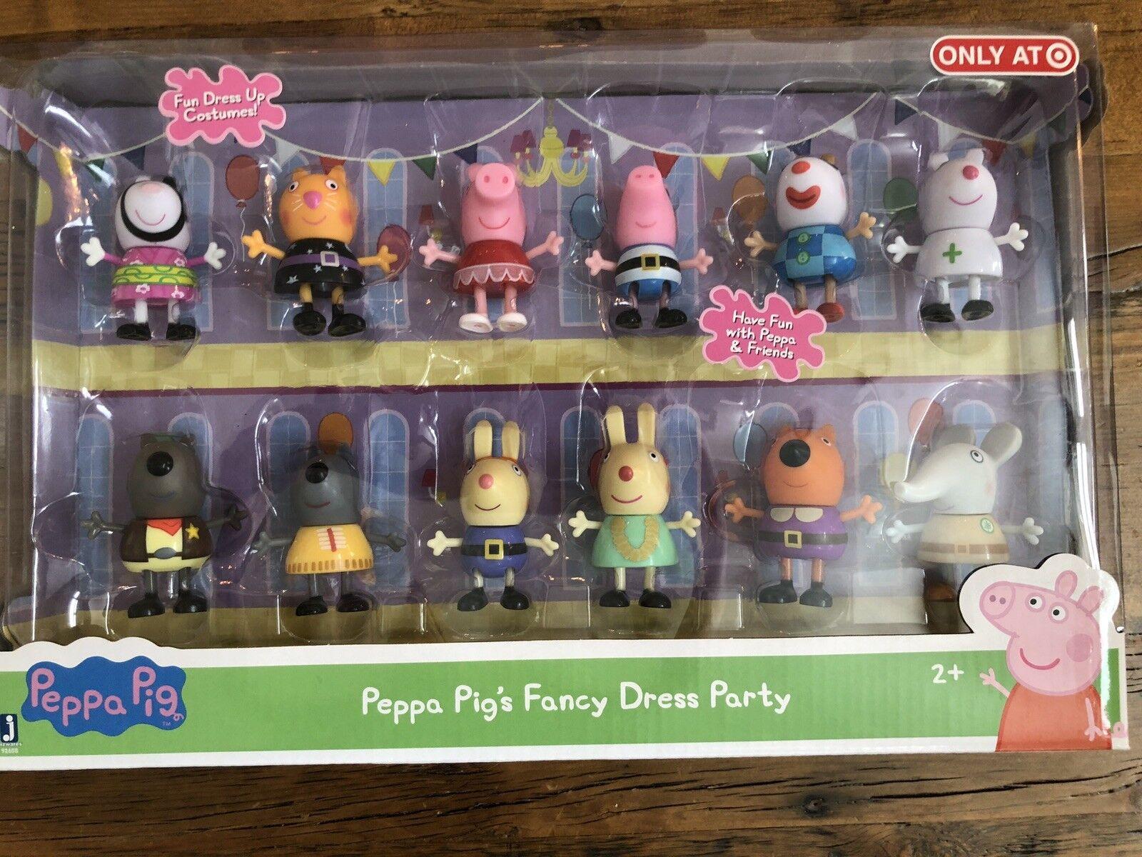 NEW Peppa Pig's Fancy Dress Party 12 Piece Figure Set Peppa & Friends Dress Up