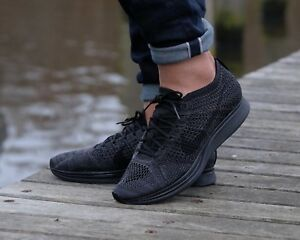Image is loading BNWB-Nike-Flyknit-Racer-Triple-Black-034-Midnight-