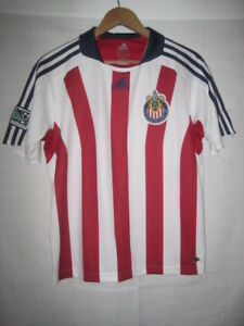 132e50f36b6 Image is loading Club-Deportivo-Chivas-Adidas-ClimaLite-MLS-soccer-jersey-
