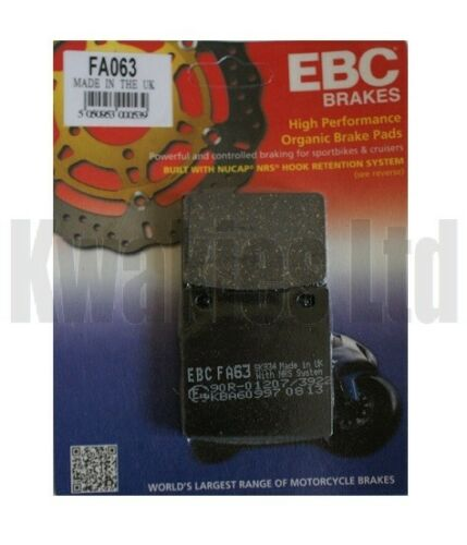 1995-1999 Unfaired EBC Rear Brake Pads FA063 for Suzuki GSF600 Bandit