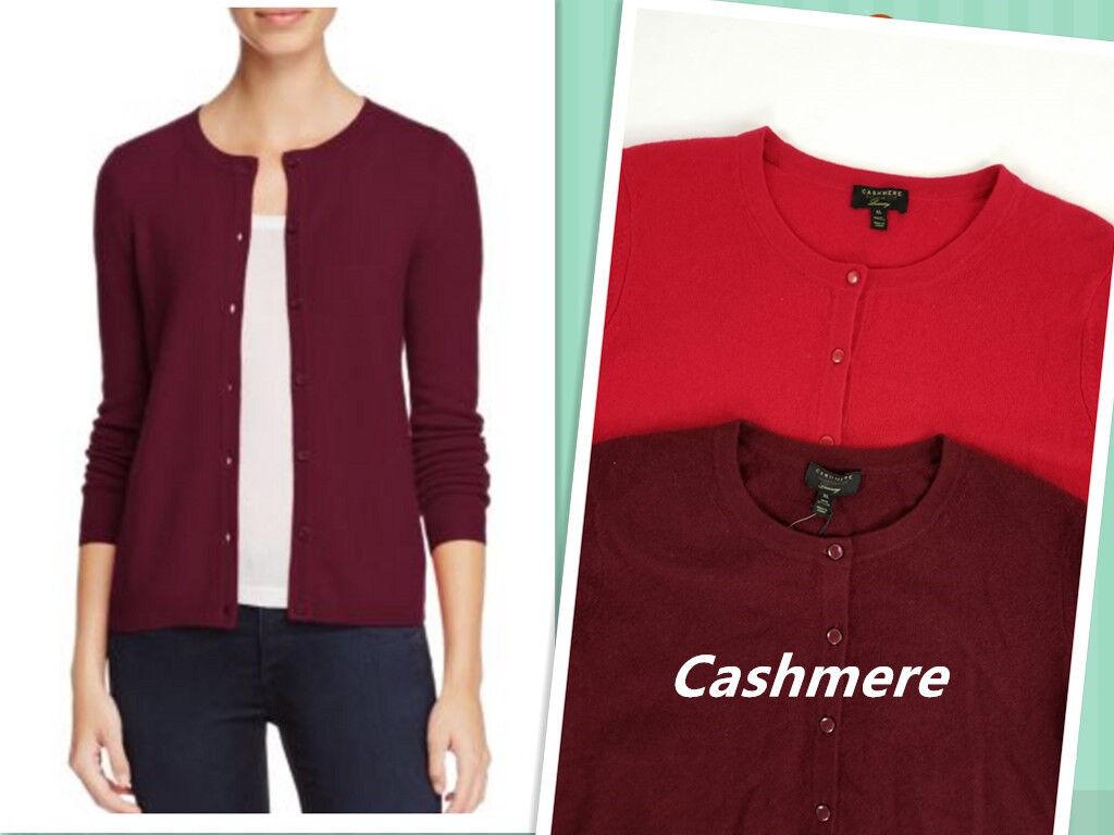 Cashmere Women's Long Sleeve Front Open Sweaters Blazer Size XL 100