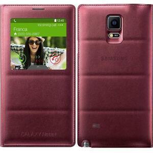 wholesale dealer e36e8 23e1c Details about Original Samsung S VIEW FLIP CASE Galaxy NOTE 4 SM N910f  mobile cell phone cover