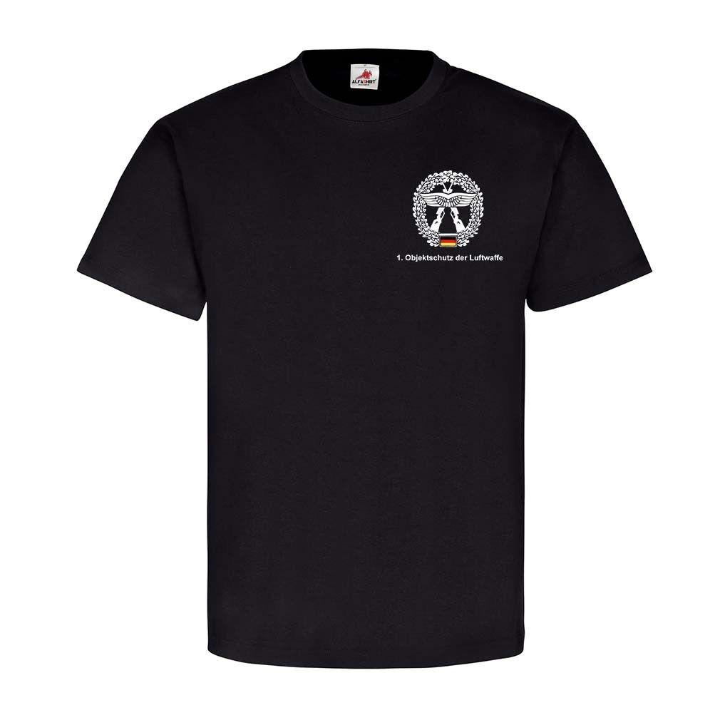 1 Objektschutz der Luftwaffe Version 2 Bund Truppe Wappen T Shirt 25109  | Qualität Produkt  | Modern  | Rabatt