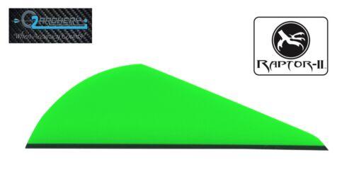 "2.0/"" Neon Green Raptor II Vanes By Q2I Archery Pkg 12 ***When Accuracy Counts**"