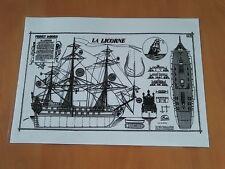 Objet mythique - collection - plan du navire la Licorne ! Tintin Kuifje