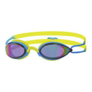 Zoggs-Adult-Podium-Mirror-Goggles-in-Lime-Blue-with-Mirror-Tinted-Lenses