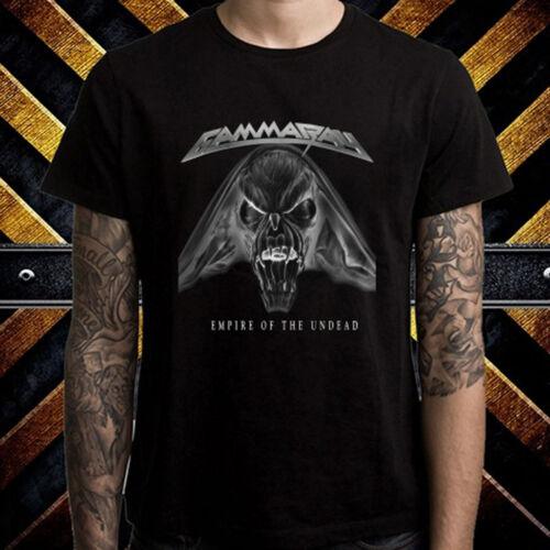 Gamma Ray Empire of The Undead Men/'s Black T-Shirt Size S M L XL 2XL 3XL