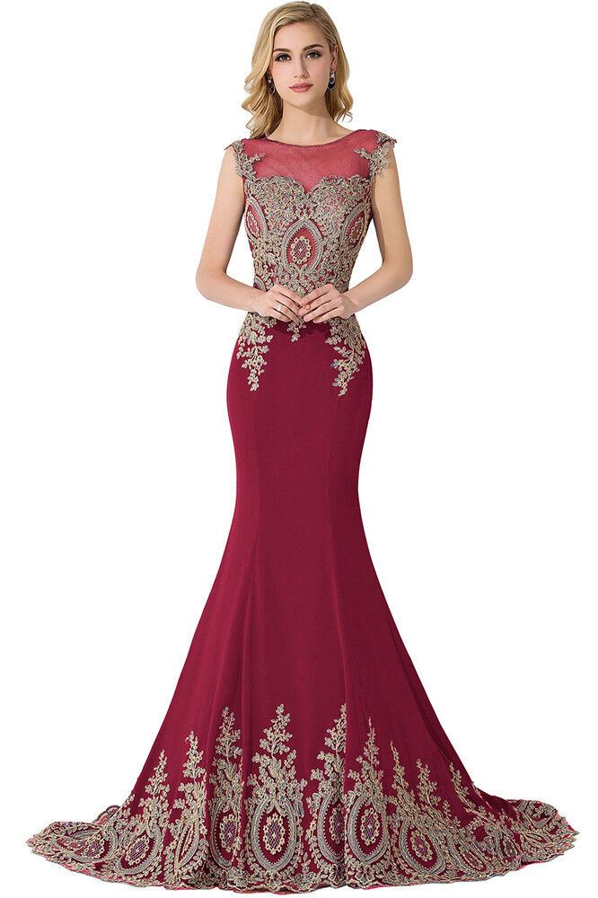 Womens Ball Gown Long Evening Formal Party Dress Prom Wedding Bridesmaid Dresses