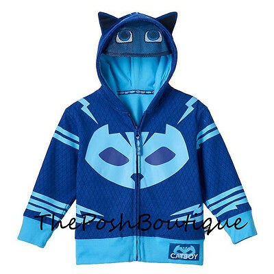 NWT LICENSED PJ Masks Catboy Boy Girl Costume Hoodie T Shirt Mask 2T 3T 4T 6 7
