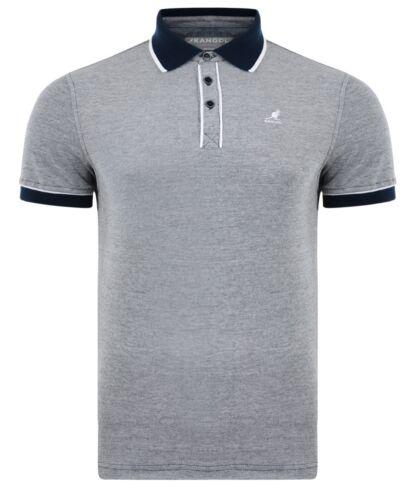 Kangol Men/'s Cotton Piqué Polo Shirt Jersey Top T-shirt Navy Grey Wine Marl New