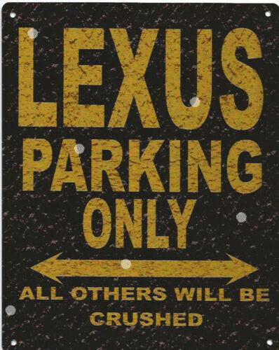 LEXUS PARKING METAL SIGN RUSTIC VINTAGE STYLE6x8in 20x15cm garage