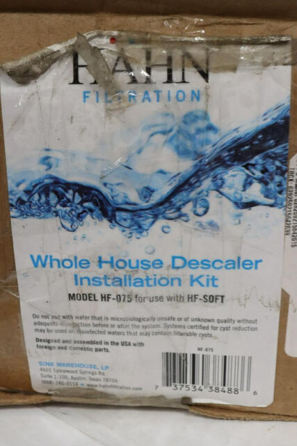 Hahn Whole Home Filtration Water Descaler Installation Kit Small