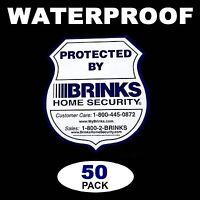 50 Brinks Home Security Alarm System Door Window Warning Vinyl Sticker Decals