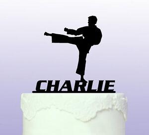 Personalised Karate - Martial Arts Cake Topper   eBay