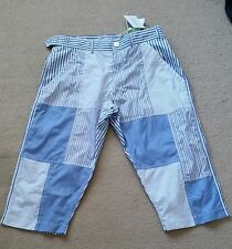COMME DES GARCONS SHIRTS BLUE STRIPPED SHORTS SIZE S