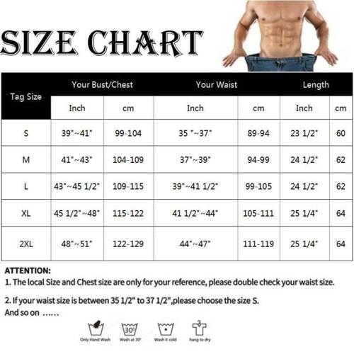 Mens Weight Loss Sauna Sweat Vest Neoprene Waist Trainer Tank Top Body Shaper