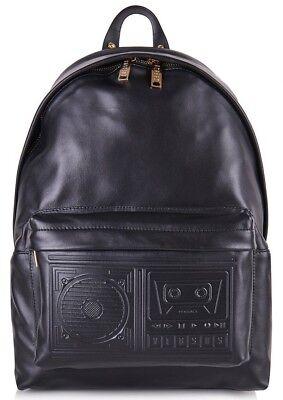 Versus Versace Para Hombre Boombox Mochila, Negro, 100% Cuero, RRP £ 535 | eBay