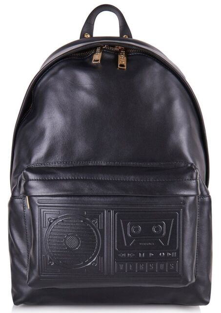 Versus Versace Men s Boombox Backpack Black 100 Leather for sale ... 5198ef242738b