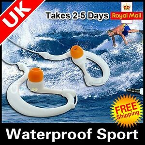 UK-Waterproof-Earphones-Headphones-Watersports-MP3-MP4-player