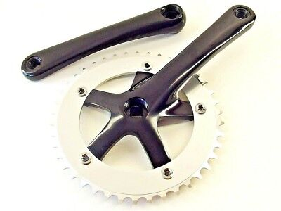 Fixed gear Single Speed Track Cranks Crankset 165mm 48t SILVER chainring