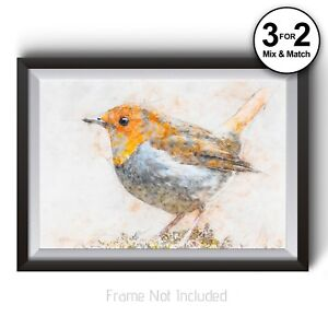 Image Is Loading Red Robin Wall Art Print Nature Home Decor